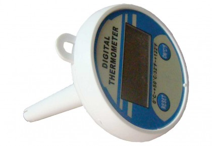 Digital Pool Thermometer With Solar Battery, Ø 80 Mm
